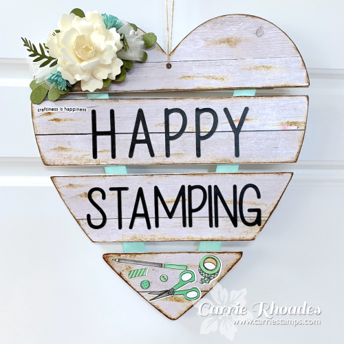 Happy stamping heart sign