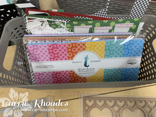 Dollar tree basket with paper