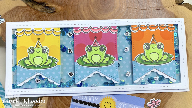 Froggy pennant card 2