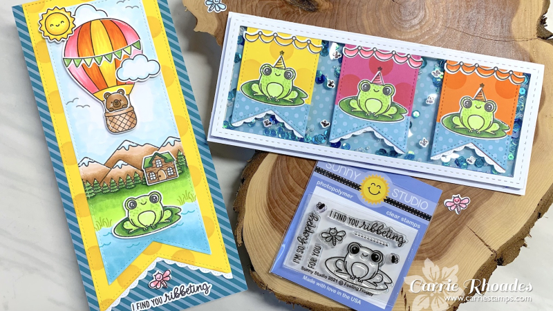 Froggy pennant cards