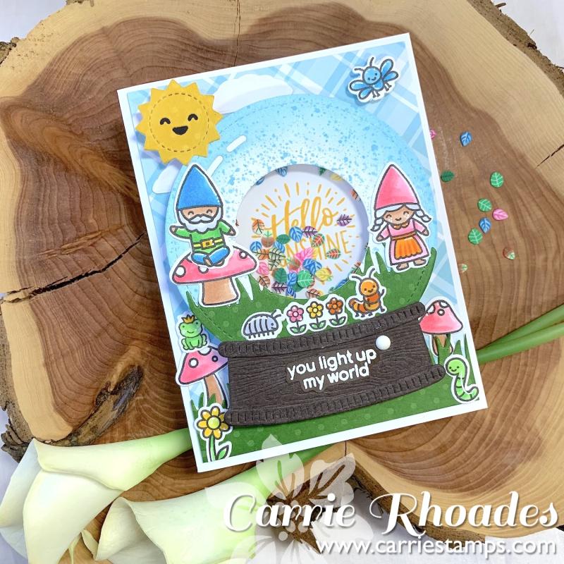 Light Up Snow Globe card 3