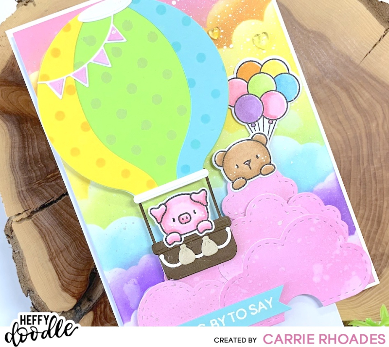 Popping by balloon card 1