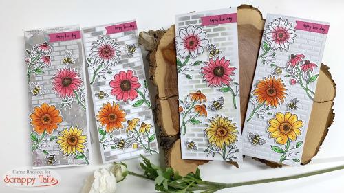 Brick gerber daisies 1